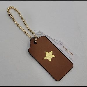 Coach Leather Hangtag with Gold Star